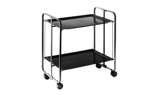 Table pliante à roues  71 x 72 x 43 cm  Noir