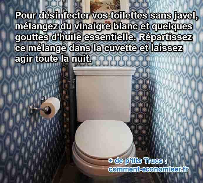désinfecter toilettes naturellement sans javel