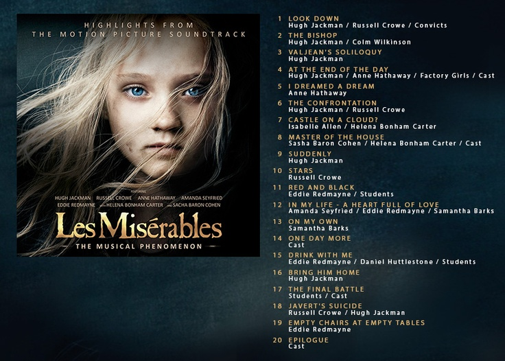 The Les Misérables official soundtrack is available for pre-order from Amazon now! It's packed with highlights from the motion picture. Which song will be your favorite?Les Miserables, The Wretched, Movie Soundtrack, Misérables Official, Canción Originals, Official Soundtrack, Miserables Movie, People Singing, Miserables Soundtrack