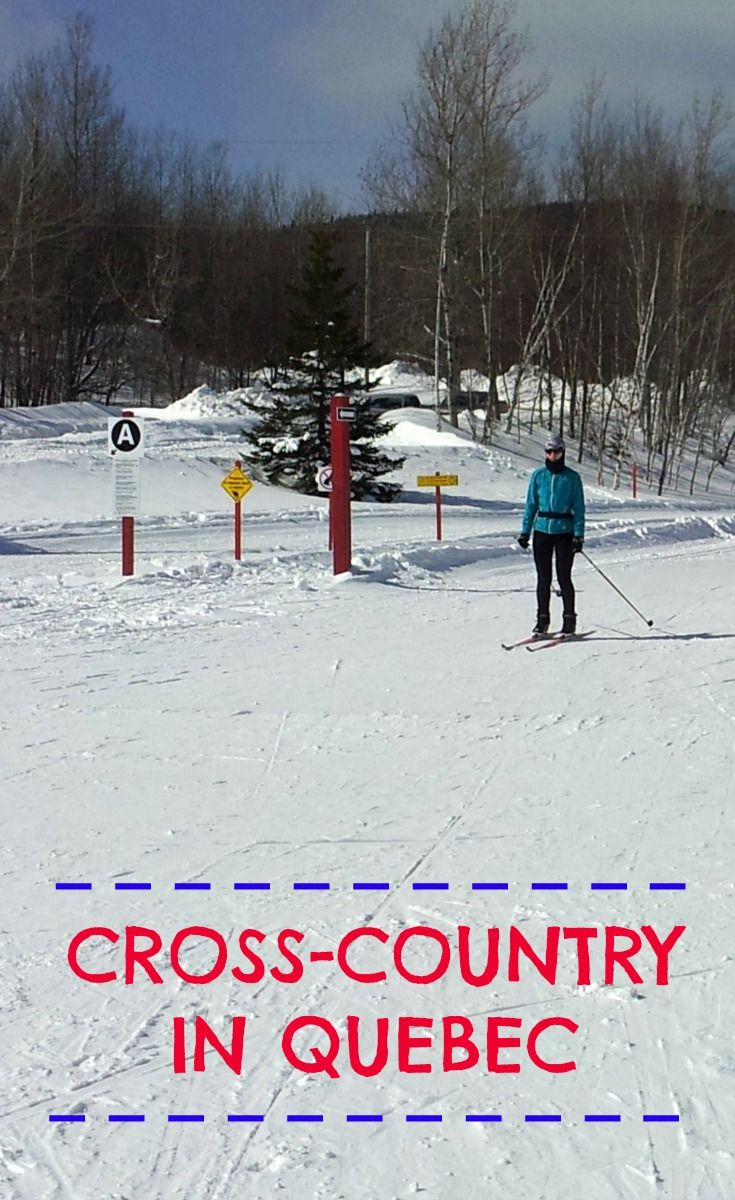 Cross country skiing at Mont-Sainte-Anne in Quebec!