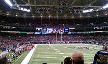 St Louis Rams (Formerly Cleveland Rams & Los Angeles Rams) - Edward Jones Dome - '' The TWA Dome'' & ''Dome at America's Center'' - Capacity: 66,000 - 1995 to Present - (Stadium Formerly Named Trans World Dome 1995 to 2001, Dome at America's Center 2001 to 2002, Russell Athletic Field at Edward Jones Dome 2006 & Edward Jones Dome 2006 to Present)