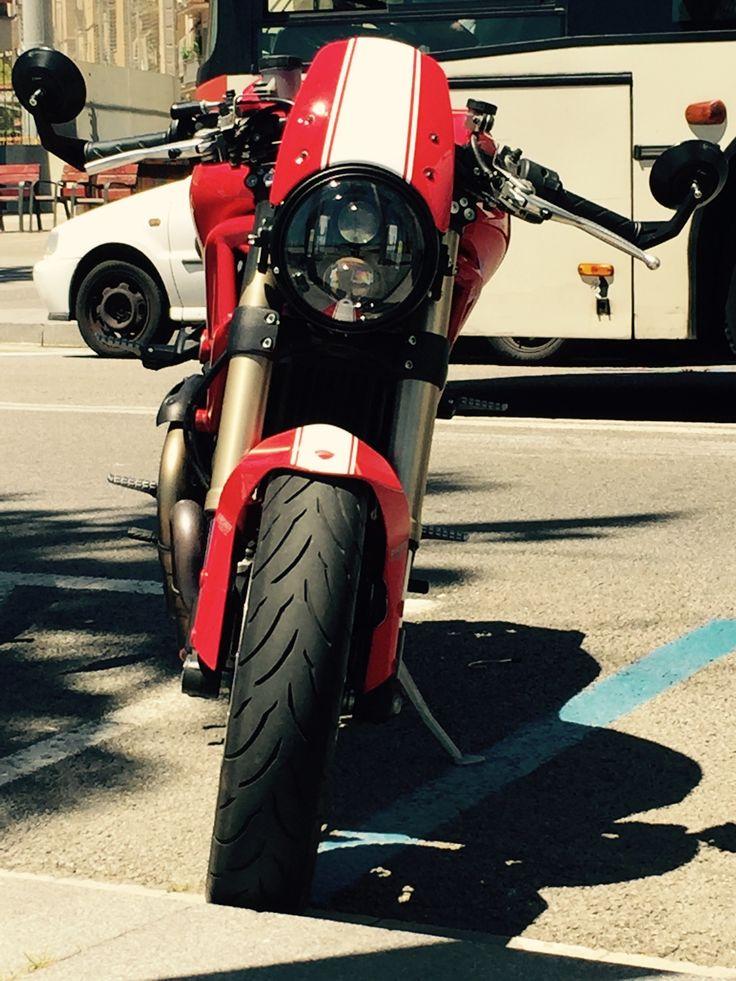 Ducati Monster 1100 Evo  Custom headlight Cafe Racer