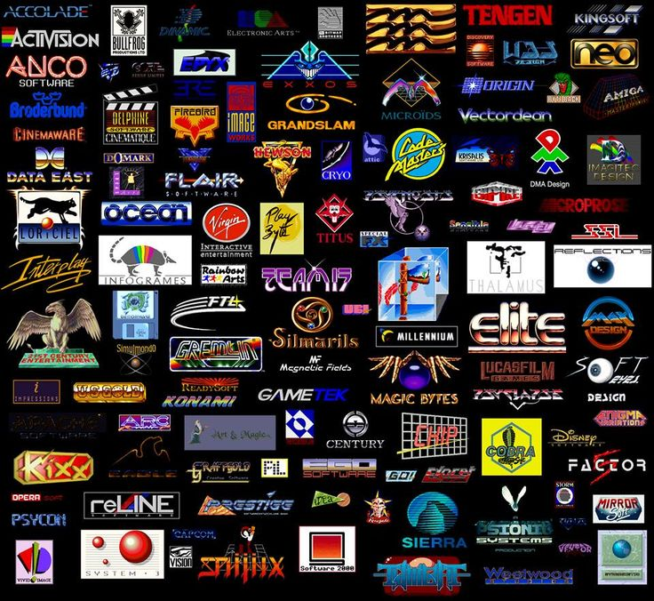 Logos from the Best Commodore Amiga Games Publishers Jeux