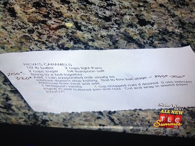 Caramel recipe from Sister Wives Episode  Fact Woman & Buttercream Lane Blogs