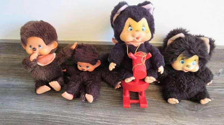 VINTAGE OLD 70'S 80'S CHIC A BOO TOY MONKEY BUNDLE HONG KONG JAPAN Monchhichi #NYAMY