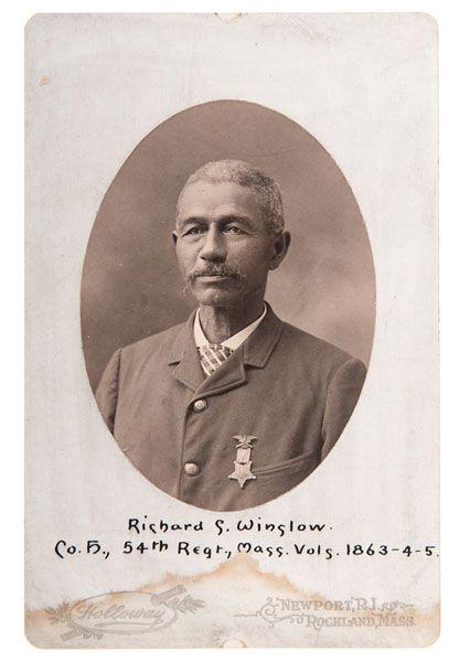 Pvt. Richard S. Winslow, Co. H - The 54th Massachusetts Volunteer Infantry Regiment