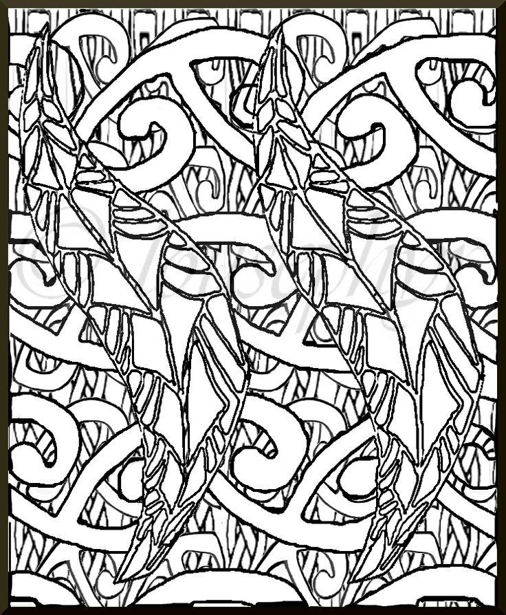 Fern leaf-Mangopare;celtic knots;Lousephyr©2015