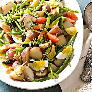 Sicilian Potato and Green Bean Salad From Better Homes and Gardens, ideas and improvement projects for your home and garden plus recipes and entertaining ideas.