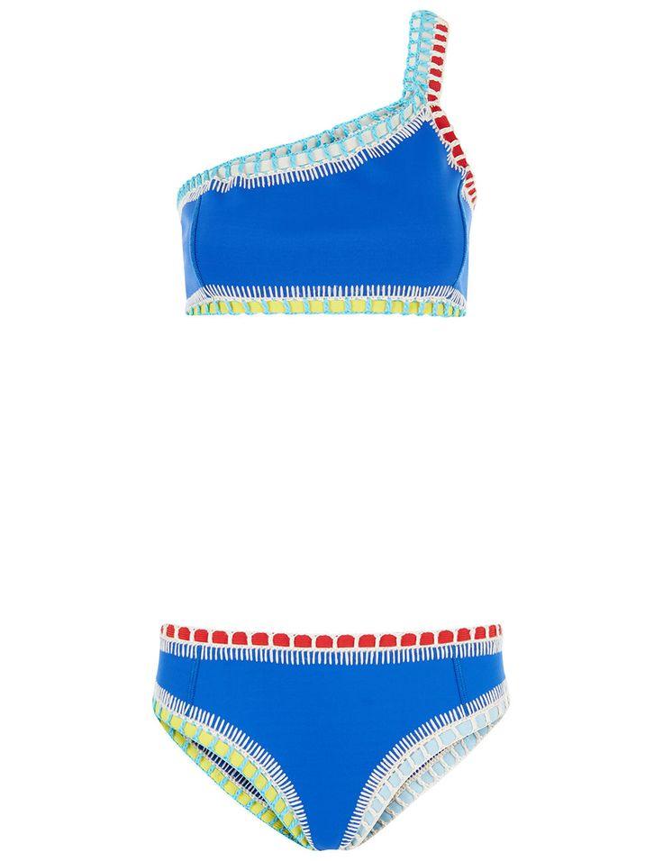Royal Blue Tuesday One Shoulder Bikini