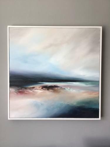 "Saatchi Art Artist Michael Claxton; Landscape Painting, ""Shimmer"" #art"