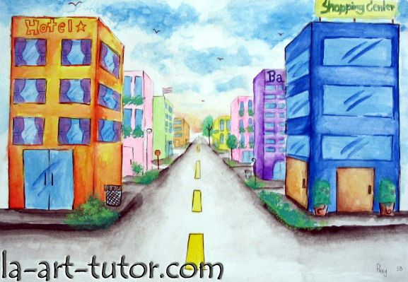 one point perspective-Will do Hundertwasser style