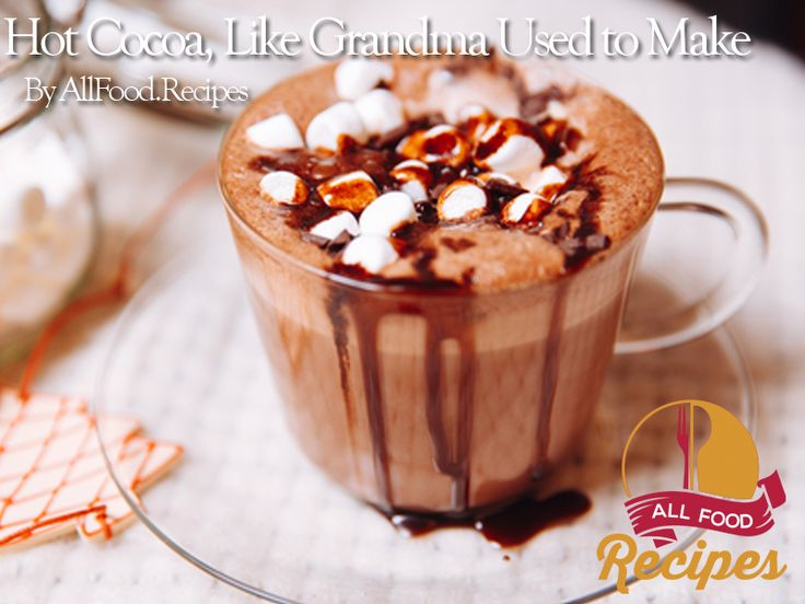 Grandma's always make the best hot cocoa. Why? Because it was made from scratch. Believe it or not, it is pretty easy to make hot cocoa. With the cool rainy Autumn days upon us and long, cold winter nights just around the corner, here's the recipe so you can stay warm and cozy: Hot Cocoa, Like Grandma Used to Make Ingredients: 3/4 cup cocoa 3/4 cup sugar 1/2 tsp salt 12 cups milk In a large saucepan add cocoa, sugar and salt. Gradually stir in 4 cups of warm milk. Set over low heat at stir…