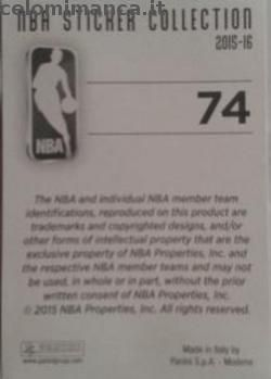 NBA Sticker Collection 2015-16: Retro Figurina n. 74 Team Logo