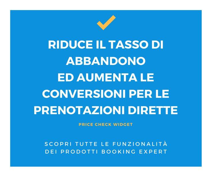 Il nostro price check widget riduce il tasso di abbandono ed aumenta le conversioni per le prenotazioni dirette nel sito del tuo hotel! Booking Expert www.bookingexpert.it