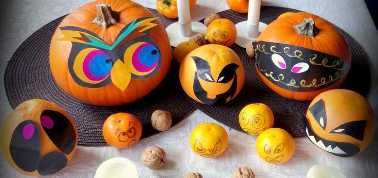 """Dekoracje na Halloween DIY """"na ostatnią chwilę """" - proste w kilka minut.  #Halloween #DIY #dynia #dekoracje"""