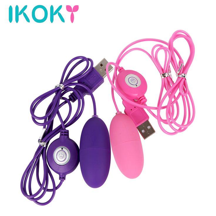 IKOKY Waterproof USB Vibrators Vibrating Egg 12 Frequency Sex Toys for Women Female Masturbation Multispeed Clitoris Stimulator