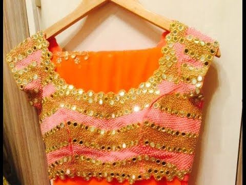 iconic mirror work blouses - YouTube