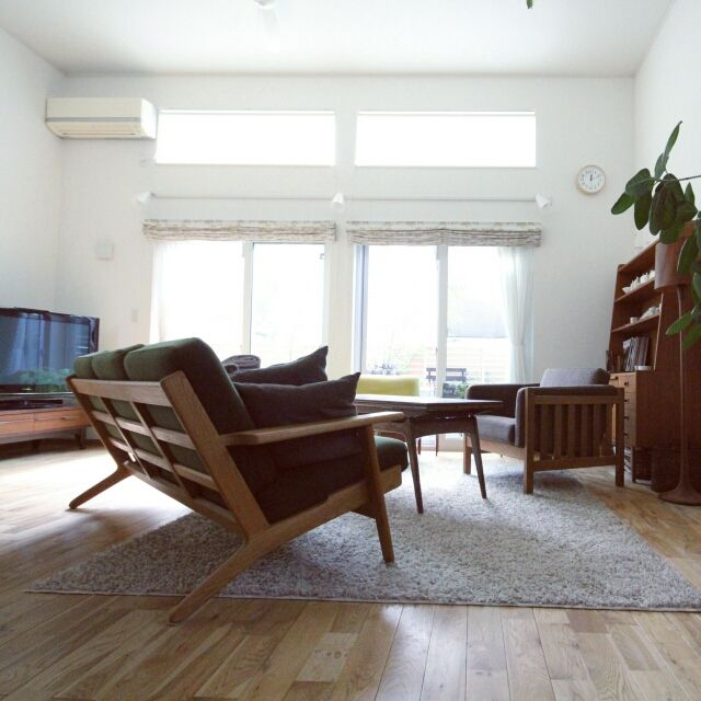 hisahsiさんの、デザイナーズ,グリーンのある暮らし,北欧インテリア,ボーエモーエンセン,北欧ヴィンテージ,北欧,部屋全体,のお部屋写真