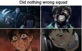 Shinichi, Kaneki, Eren, Genta
