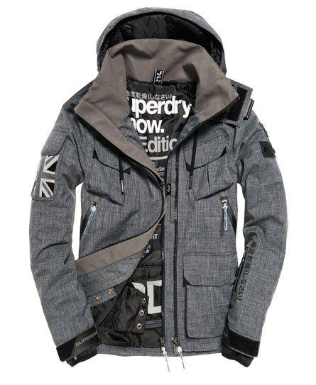 Superdry Ultimate Snow Service Ski Jacket Grey
