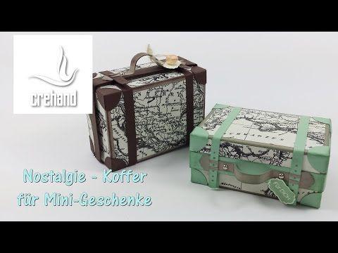 Nostalgischer Reisekoffer als Verpackung mit Stampin' Up! - YouTube