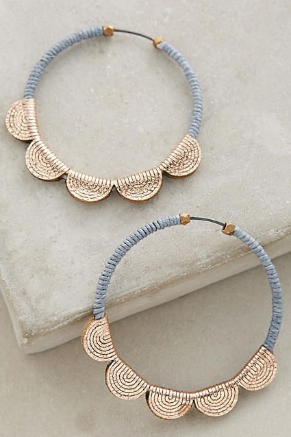 Molly M Scalloped Hoops