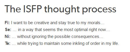 exactly... isfp thought process