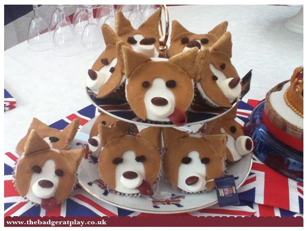 A Stack Of Corgi Cupcakes Corgi Birthday Pinterest