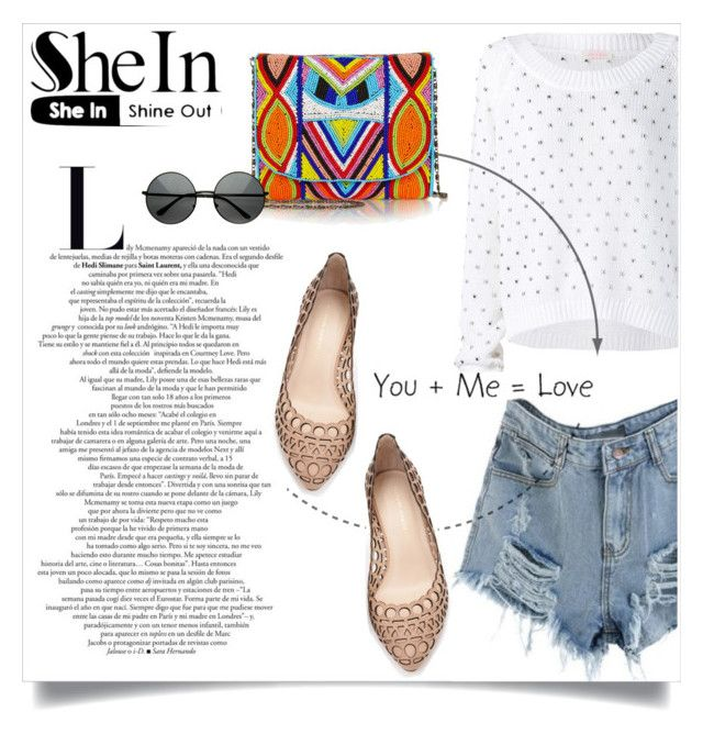 """Shein.com конкурс - выиграть эти рваные джинсовые шорты!"" by miss-image ❤ liked on Polyvore featuring sass & bide, Loeffler Randall and Antik Batik"