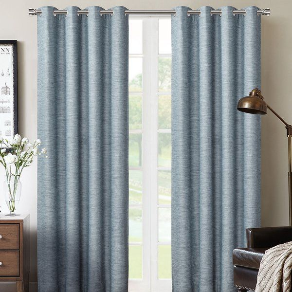 This Solid Color Room Darkening Thermal Grommet Curtain Panels