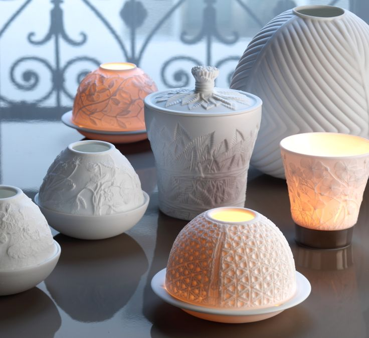 Photophores et lithophanies Votives and candles