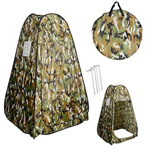 Portable Pop UP Fishing Bathing Toilet Tent Changing Room Camouflage Up Dressing Bathroom Shower Camping bag with handle ** Click image to review more details.(This is an Amazon affiliate link and I receive a commission for the sales)