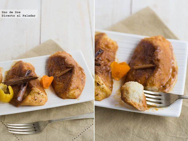 Toriijas, torrijas y más torrijas. Esta vez glaseadas al caramelo salado. Receta de Semana Santa
