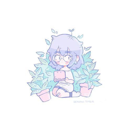 "nemupan: ""Plant girl. ¼. """