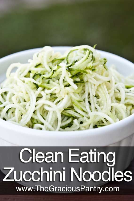 Clean Eating Zucchini Noodles - I have a Benriner slicer, and have used it to create kohlrabi noodles for an Asian salad; for some reason, I never used it for zucchini noodles, but I will now!