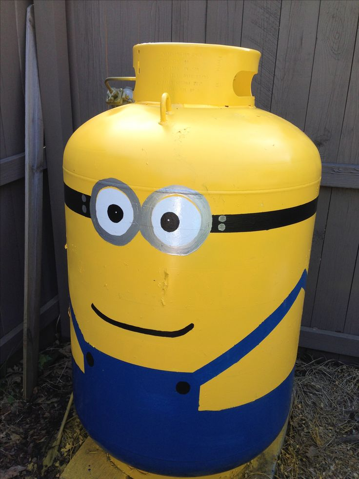 My Propane Tank Hand Painted As Dave From Despicable Me