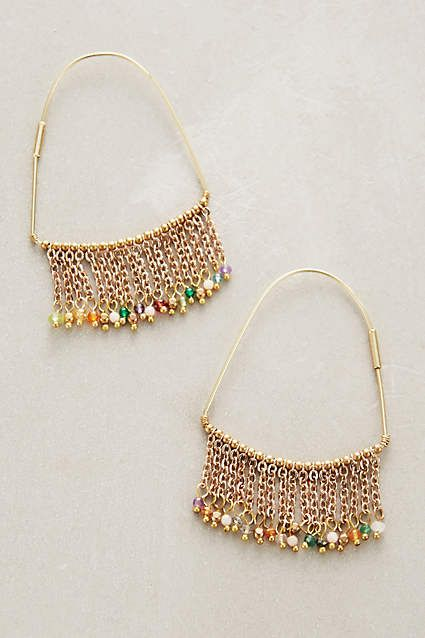 Luana Fringed Hoops - anthropologie.com: