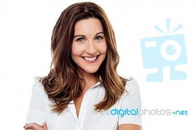 Closeup Of Smiling Woman Stock Photo
