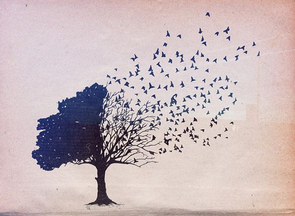 birds in flight: One Day, Tattoo Ideas, Inspiration, Quotes, Dream, Tattoos, Art, Trees