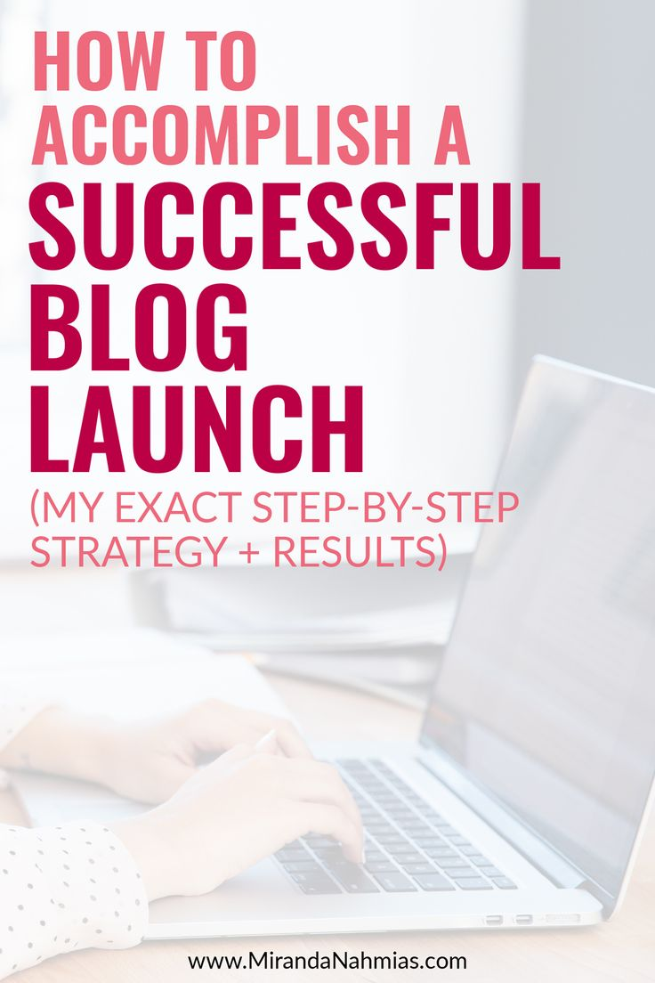 How to Accomplish a Successful-Blog-Launch! (My Exact Step-by-Step Strategy + Results) // Miranda Nahmias