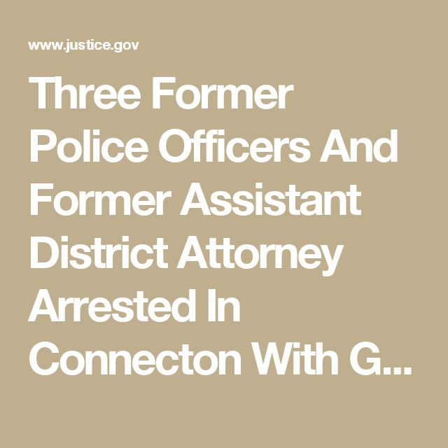 Three Former Police Officers And Former Assistant District Attorney Arrested In Connecton With Gun License Bribery Scheme | USAO-SDNY | Department of Justice