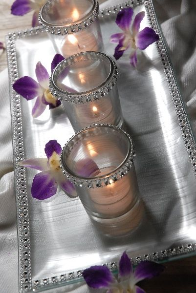 Purple and Silver wedding | Weddinary.com