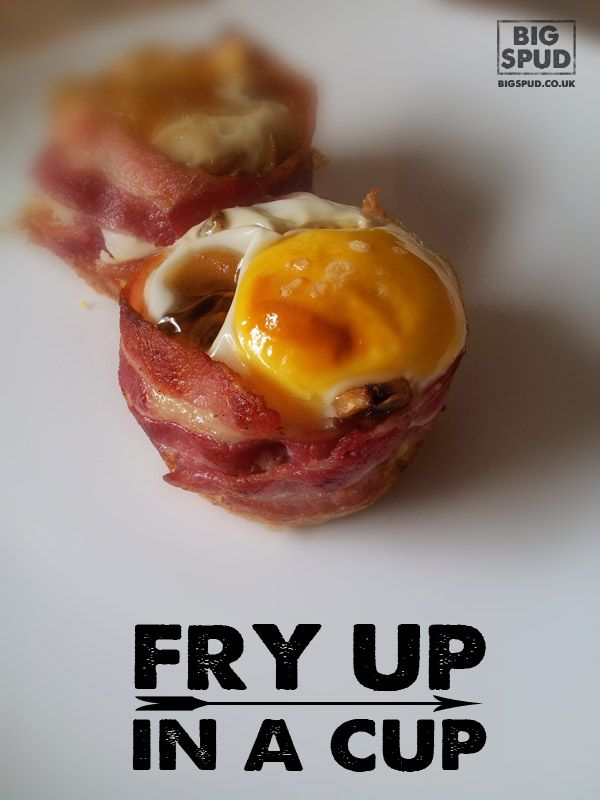 A fry up in a cup - easy breakfast!