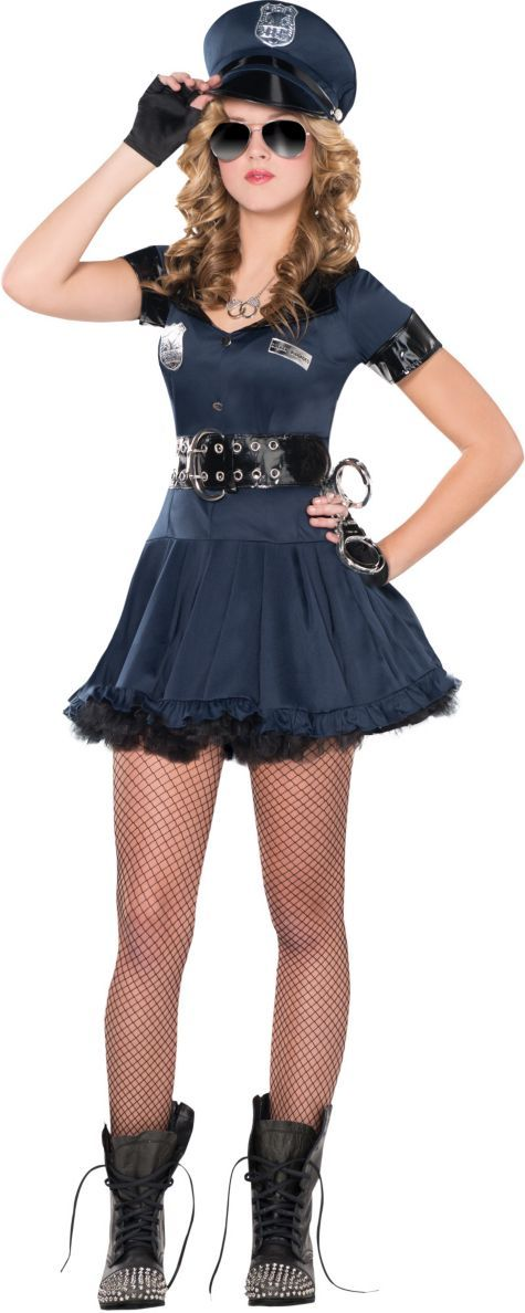 Teen Girls Locked N Loaded Cop Costume - Party City ...