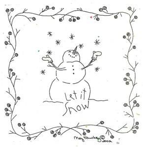 Lovely, simple border - Embroidery.com: Let It Snow Embroidery Pattern: Primitive Embroidery / RedWork