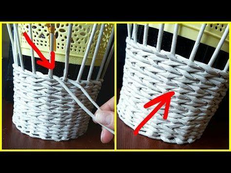 Плетение прямой и обратной веревочкой в 2 трубочки (плавный незаметный переход) - YouTube