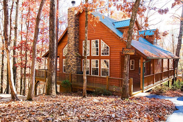 All Wood Rustic Cabin In Helen Georgia With Private