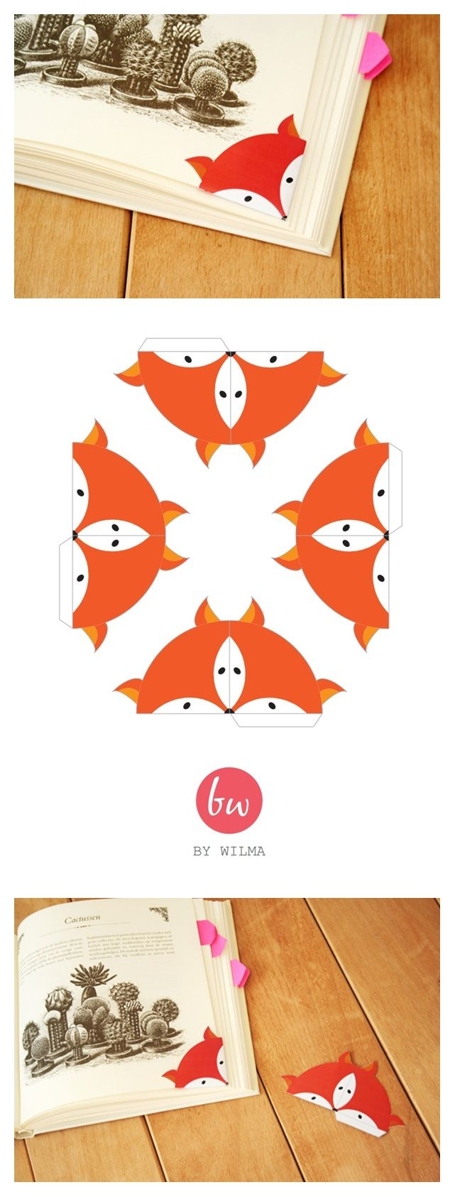 FREE Printable Fox Bookmark