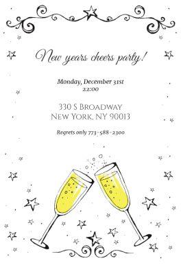 new year invitation free printable new year invitation template
