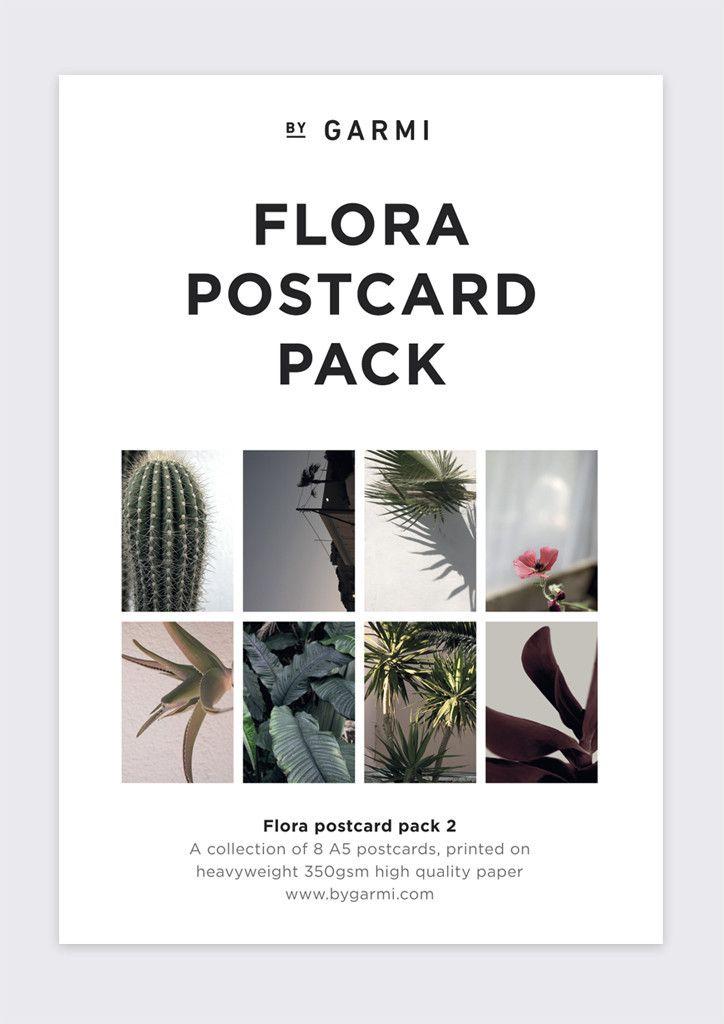 FLORA POSTCARD PACK 2 // Botanic A5 prints, Flora poster
